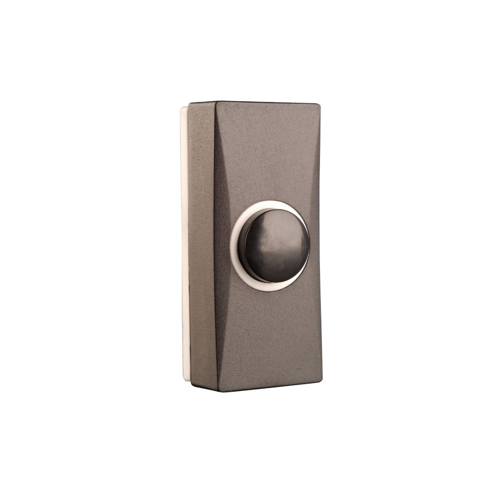 Byron  Wired Doorbell Bell Push Black