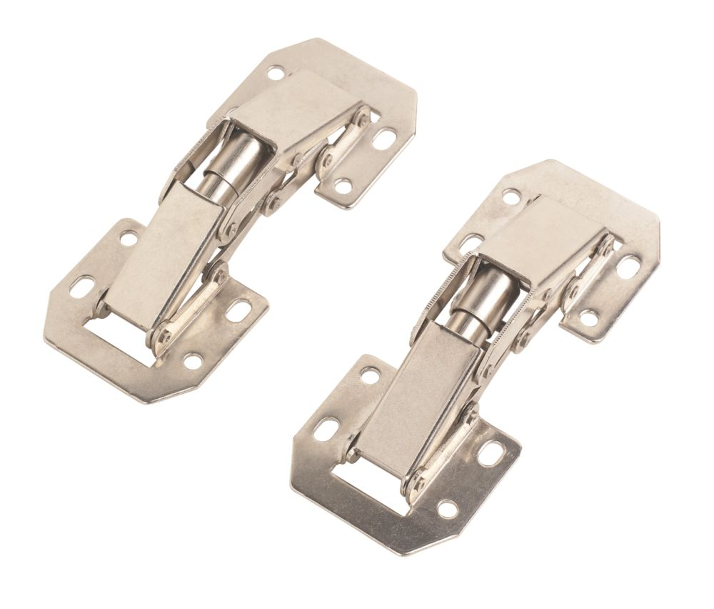 Nickel Easy Mount Hinges 105mm 2 Pack