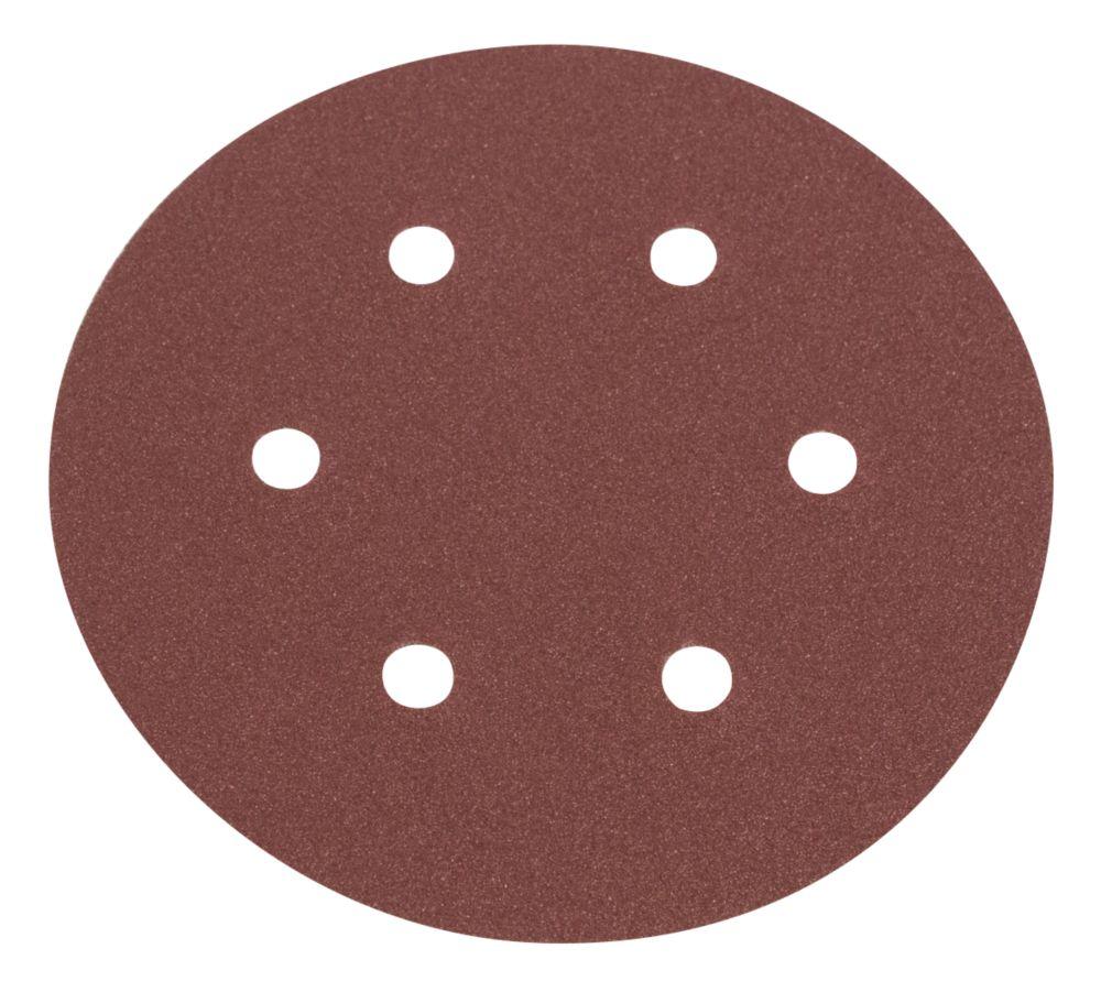Flexovit Sanding Discs Punched 150mm 50 / 80 / 120 Grit 6 Pack