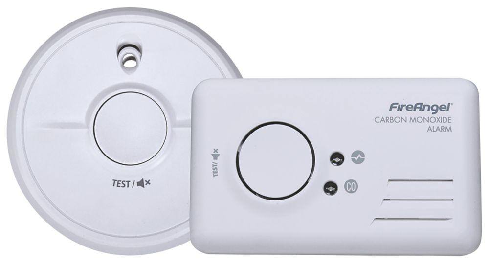 FireAngel 9B-SB1-TP-R Smoke and Carbon Monoxide Alarm Twin Pack 2 Piece Set
