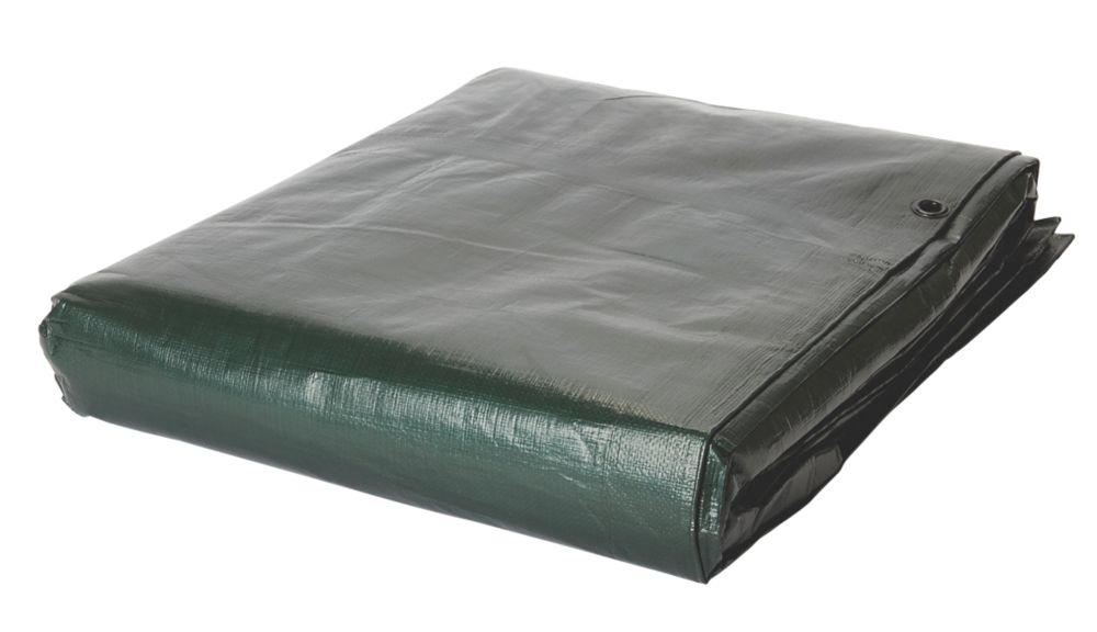 Tarpaulin Sheet Green / Brown 5 x 8m
