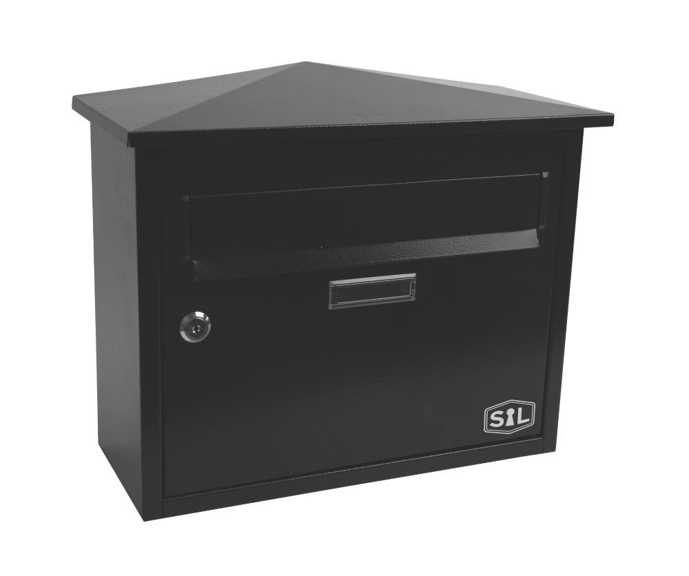 Smith & Locke Premium Post Box Black Powder-Coated