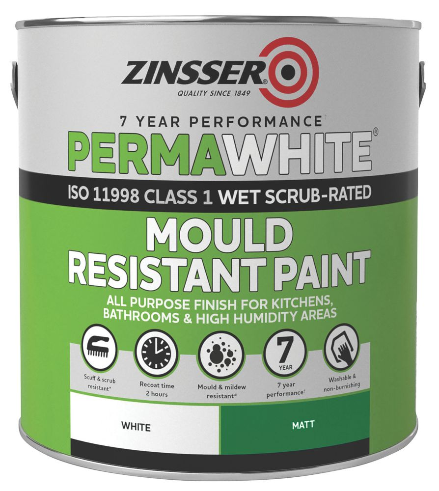 Zinsser Self-Priming Paint Matt White 2.5Ltr