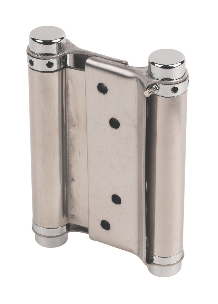 Eclipse Satin Stainless Steel Spring Hinges 103 x 43mm 2 Pack
