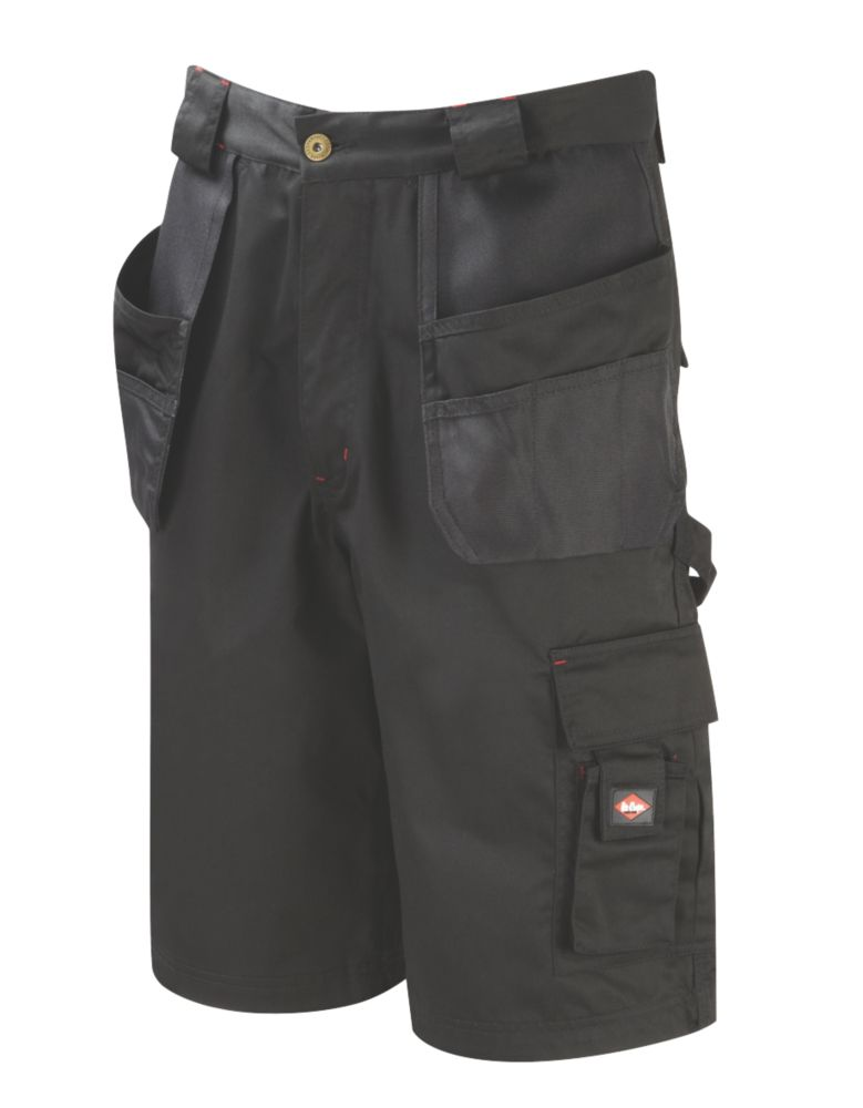 "Lee Cooper LCSHO-807 Holster Pocket Cargo Shorts Black 32"" W"
