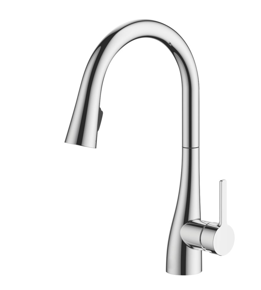Watersmith Heritage Oxford   Pull-Out Spray Mono Mixer Kitchen Tap Chrome