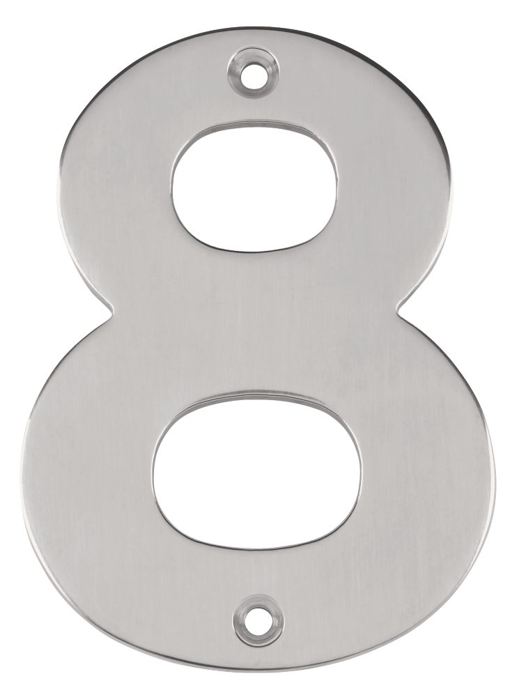 Eurospec Numeral 8 Brushed Stainless Steel 100mm