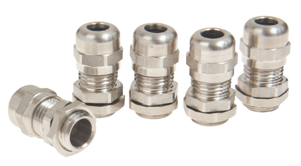 Schneider Electric 304L Stainless Steel Cable Glands  M16 5 Pack
