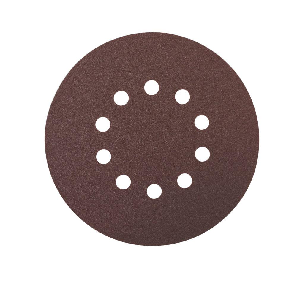 Scheppach Sanding Discs Punched 215mm 120 Grit 10 Pack