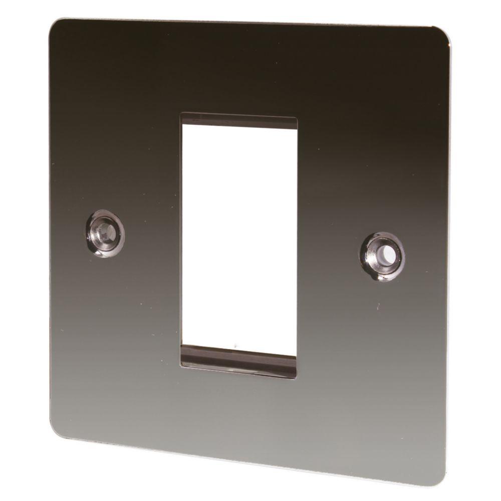 LAP 1-Gang Front Plate + Earth Black Nickel