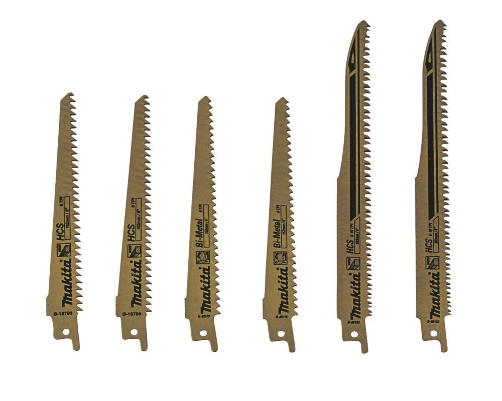 Makita B-44432 Reciprocating Saw Blade Set 152-203mm 6 Pieces