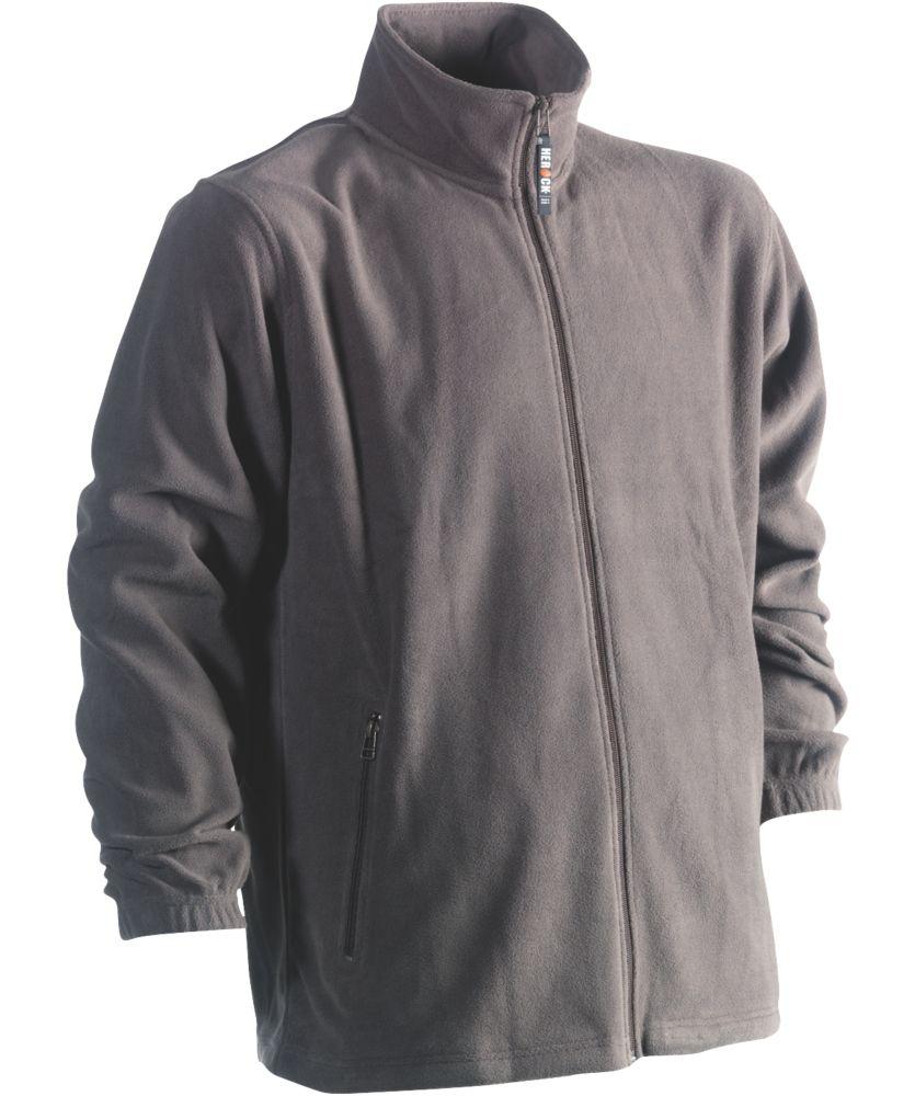 """Herock Darius Fleece Jacket Grey Medium 44"""" Chest"""