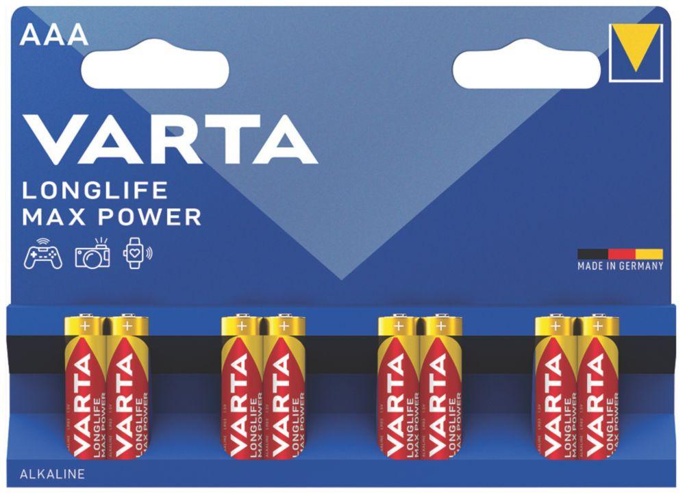Varta Longlife Max Power AAA Batteries 8 Pack