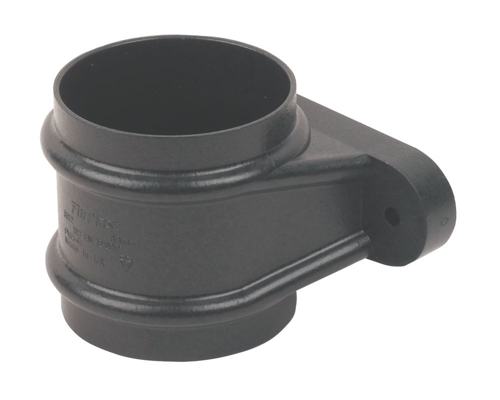 FloPlast Cast Iron Effect Pipe Socket 68mm Black