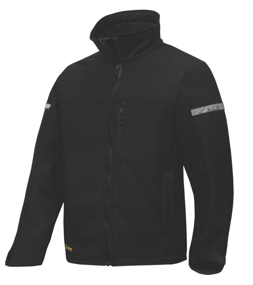 "Snickers AllRoundWork 1200 Softshell Jacket Black XX Large 52"" Chest"