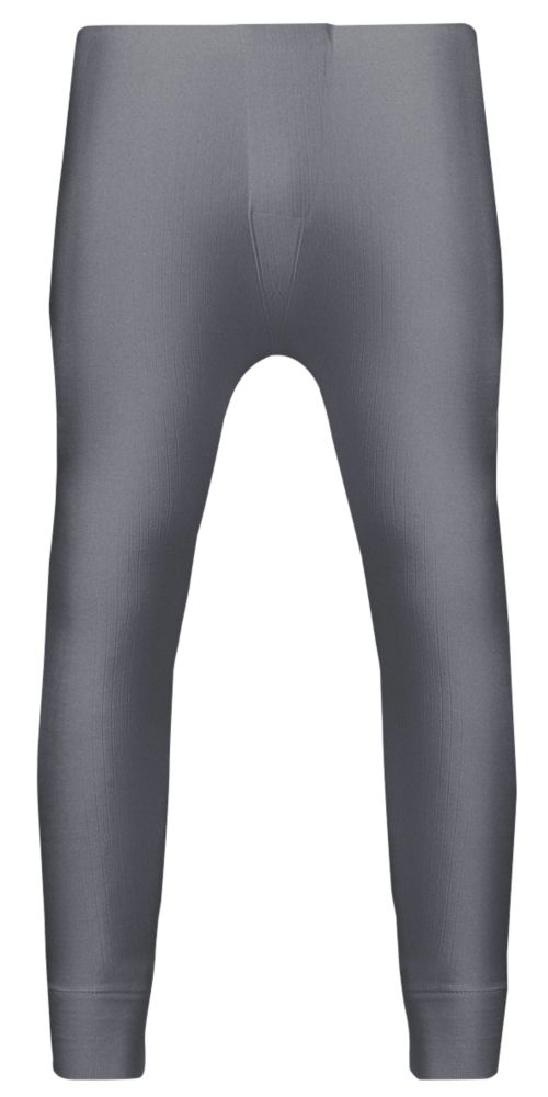 """Workforce  Thermal Baselayer Trousers Grey Large 36-38"""" W 30"""" L"""