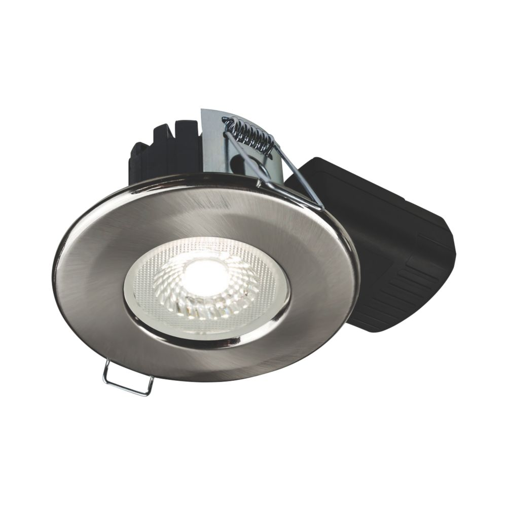 Collingwood DT5 Fixed  Fire Rated LED Downlight Brushed Steel 500lm 5W 220-240V