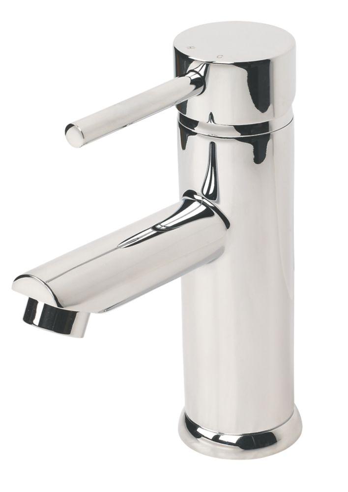 Swirl Essential Bathroom Mono Basin Mixer Tap with Clicker Waste