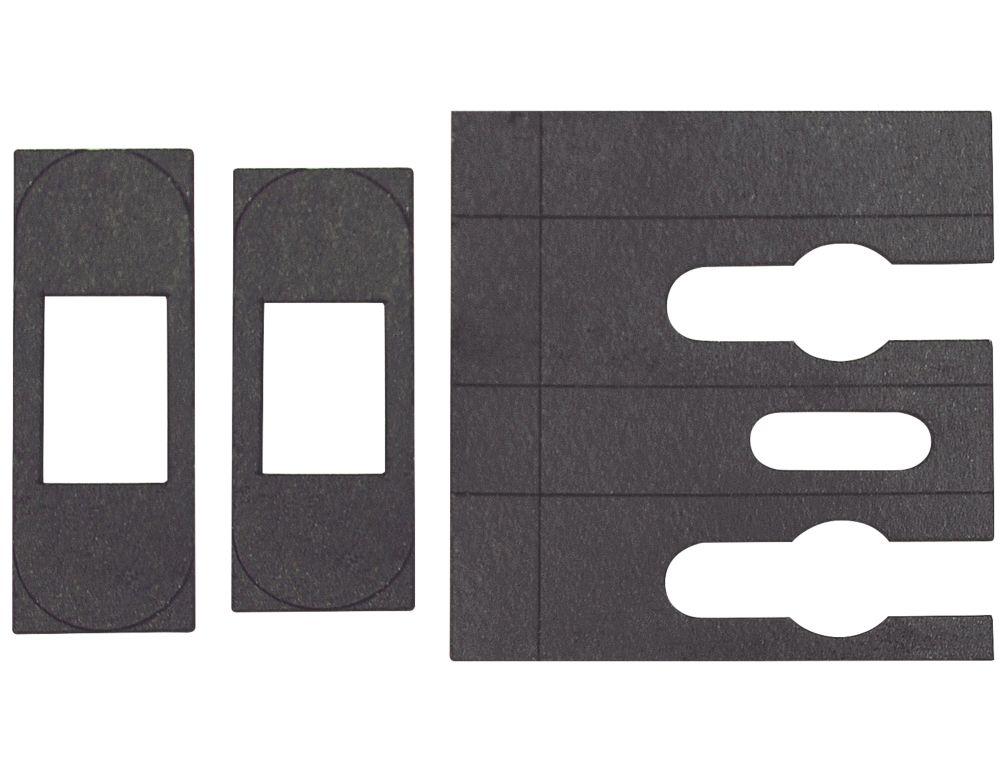 Flexifire Universal Intumescent Tubular Latch Kit Black 23 x 0.8 x 76mm