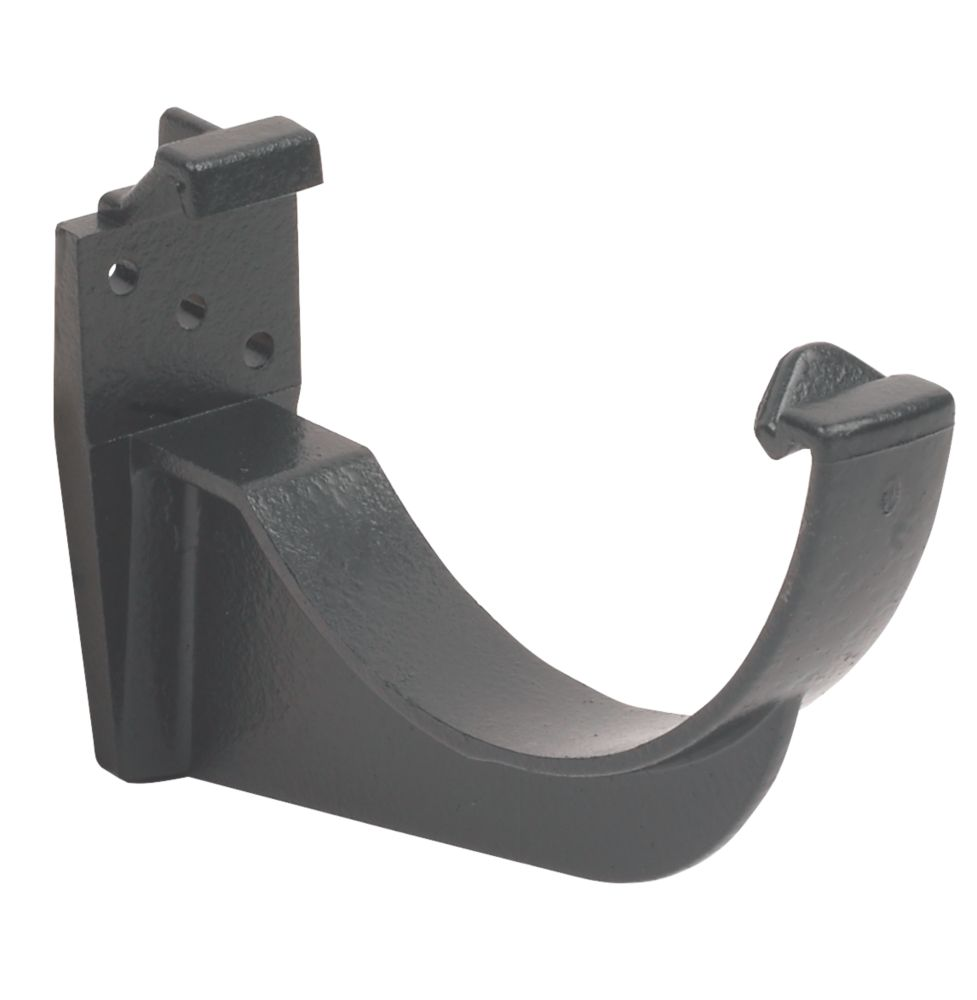 FloPlast Cast Iron Effect Fascia Bracket 112mm Black 10 Pack