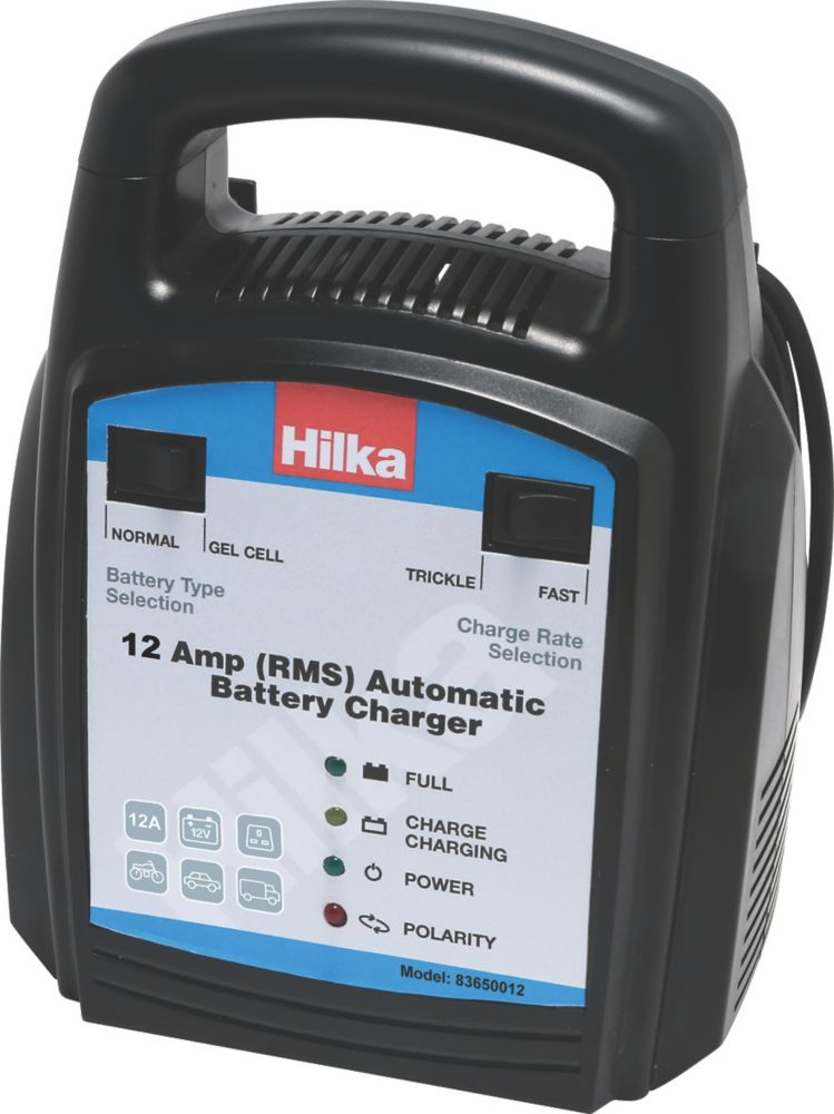 Hilka Pro-Craft 83650012 12A RMS Battery Charger 12V