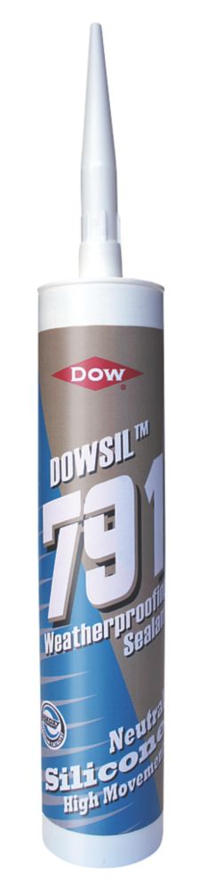 Dow 791 Weatherproof Silicone Sealant Anthracite 310ml