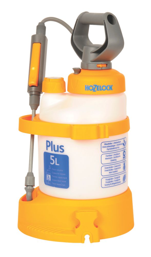 Hozelock Plus Translucent Pressure Sprayer 5Ltr