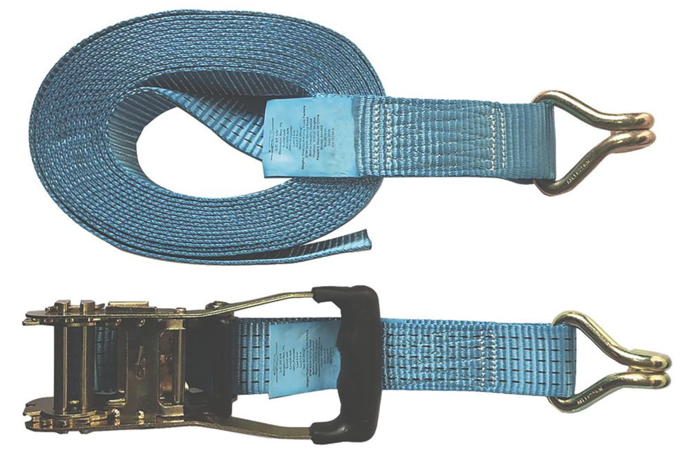Ratchet Strap with Hooks 8m x 50mm