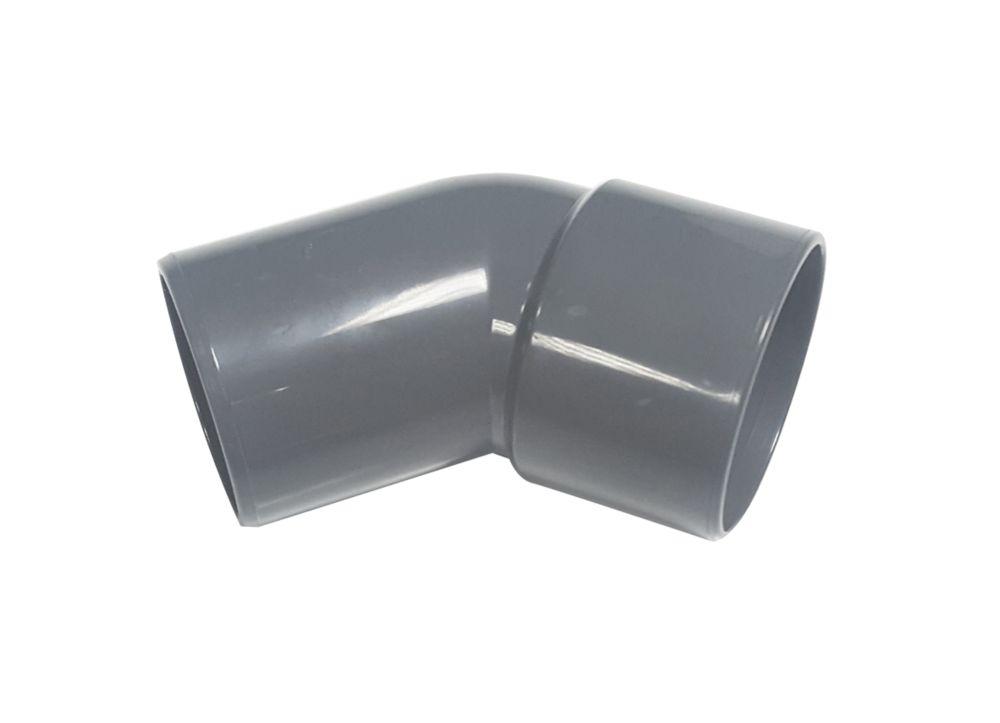 FloPlast Solvent Weld Conversion Bend 135° Grey 32mm 5 Pack