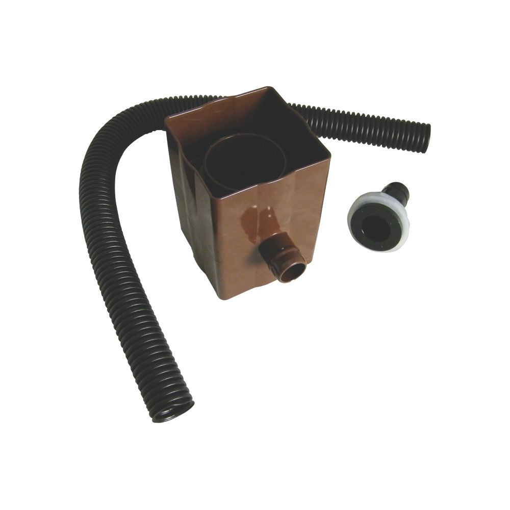FloPlast Square Line Rainwater Diverter 70mm Brown