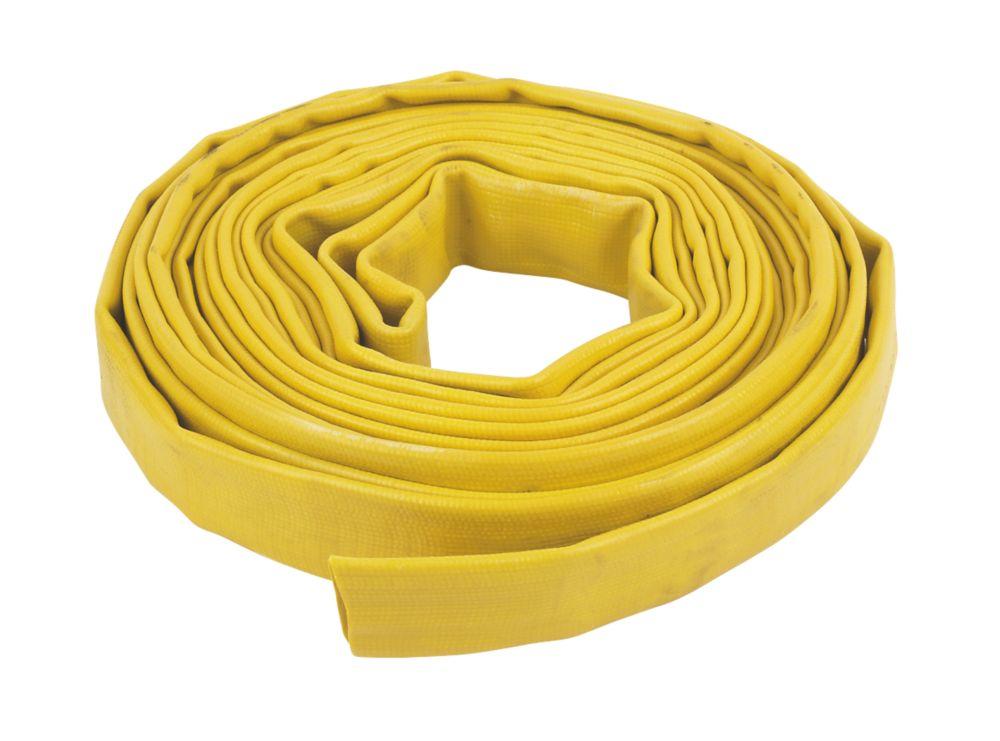 "Layflat Hose Yellow 10m x 1"""