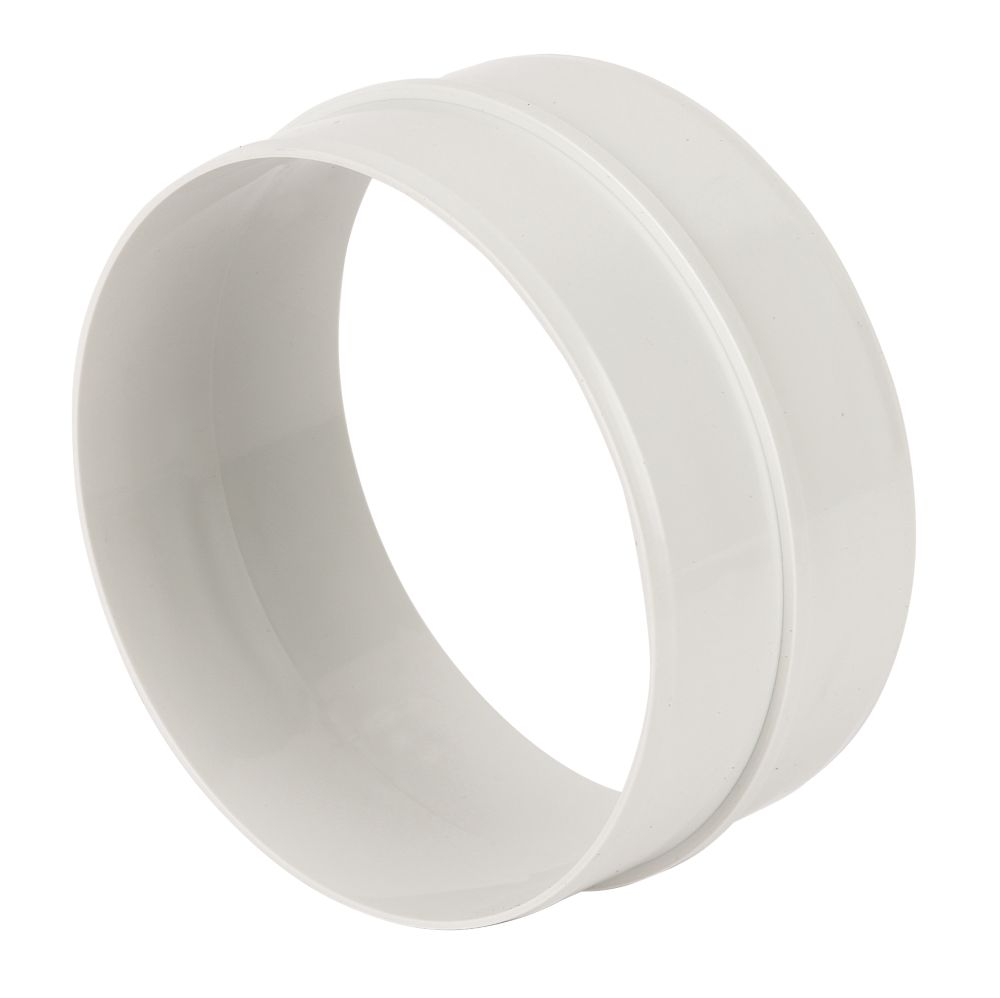 Manrose Round Pipe Connector White 125mm