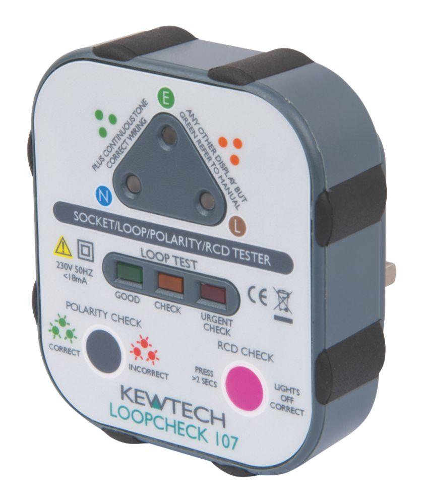 Kewtech Loopcheck 107 Advanced Plug-In Socket Tester