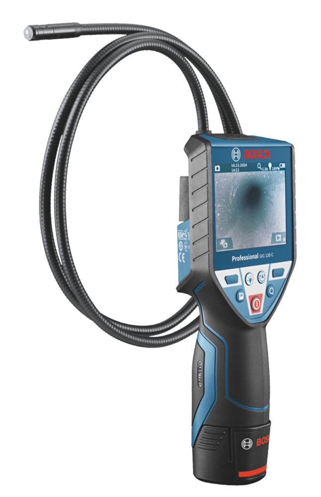 "Bosch GIC 120 C Professional Cordless Inspection Camera With 3½"" Colour Screen"