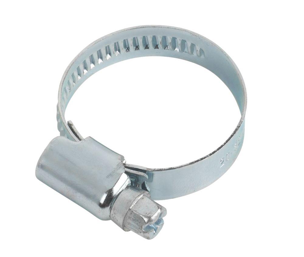 Easyfix Blue Zinc-Plated Hose Clips 20-32mm 10 Pack