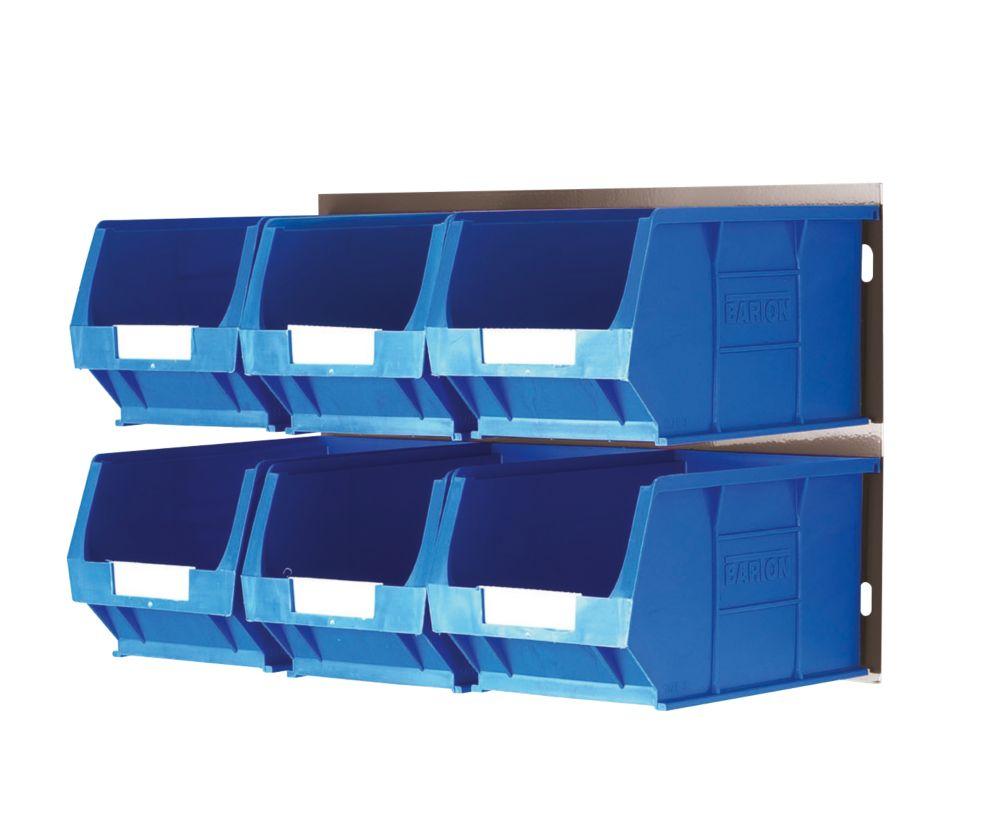 Wall Mountable Bin Kit 3 - 6 x TC3 Bins