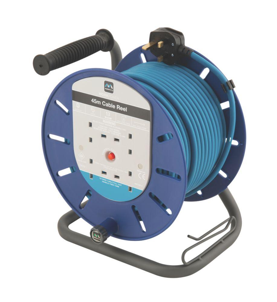 Masterplug HDCT4513BQ/4-XD 13A 4-Gang 45m Cable Reel 240V