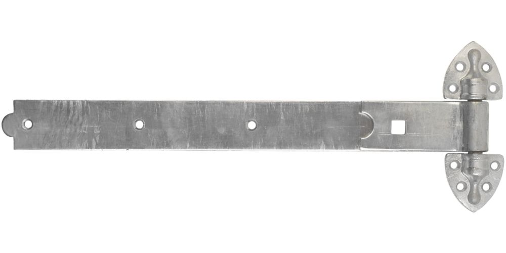 Smith & Locke Heavy Duty Reversible Gate Hinges Hot Spectra Galvanised 30 x 500 x 185mm 2 Pack