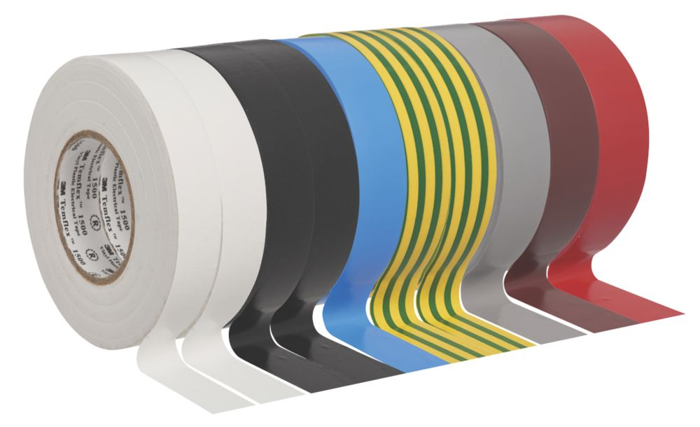 3M Temflex Insulation Tape Multipack  Mixed 25m x 19mm 10 Pieces