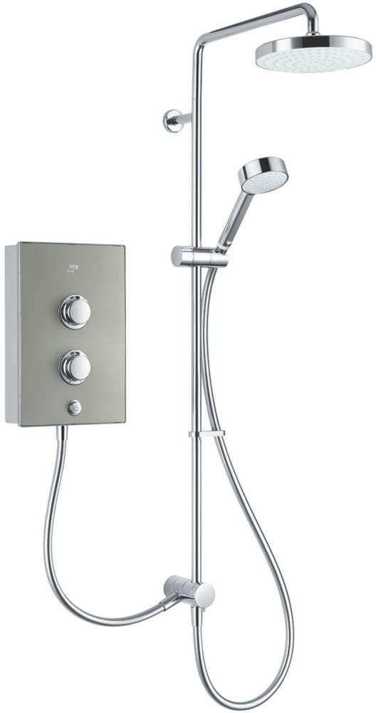 Mira Decor Dual Warm Silver 10.8kW  Manual Electric Shower