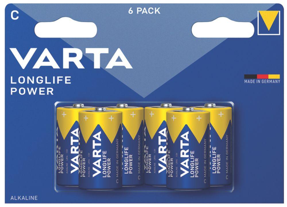 Varta Longlife Power C Batteries 6 Pack