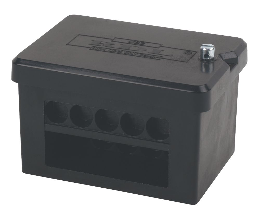 2 x 5-Way DP 100A Service Connector Block 25mm²