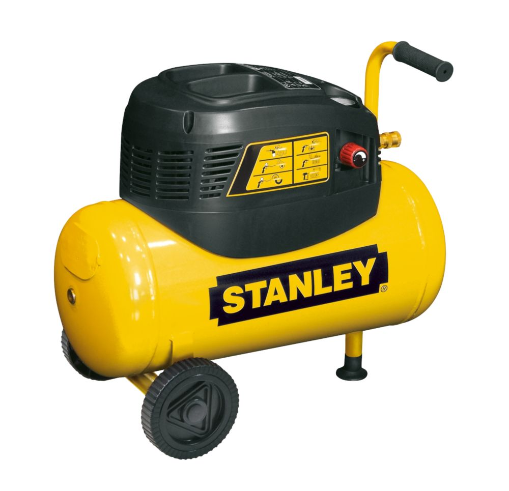 Stanley 8216035SCR011 24Ltr Electric Compressor with 5 Piece Accessory Kit 240V