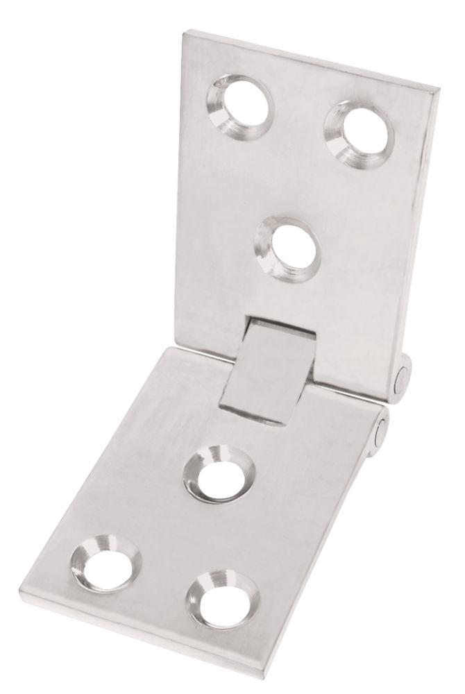 Satin Chrome Counter Flap Hinge 38 x 102mm 2 Pack