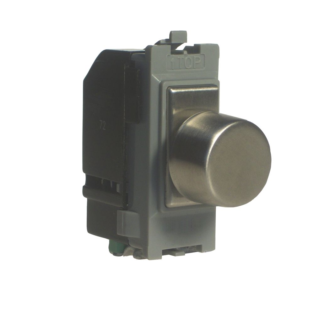Varilight Z0GP400S 2-Way 400W Dimmer Brushed Steel