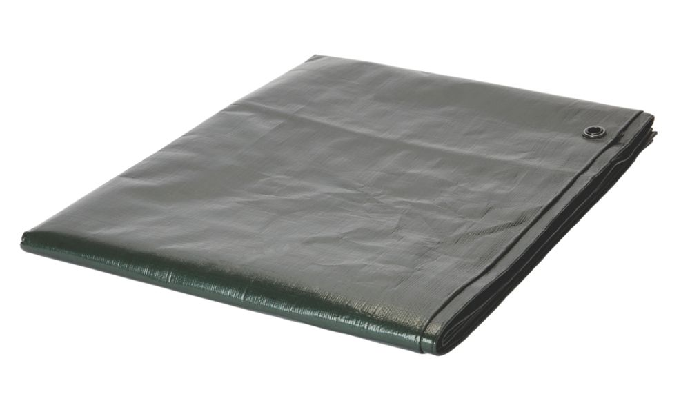 Tarpaulin Sheet Green / Brown 2 x 3m