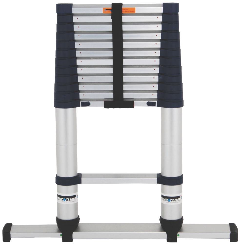 Xtend+Climb Professional  Aerospace Grade Aluminium Telescopic Ladder 3.8m