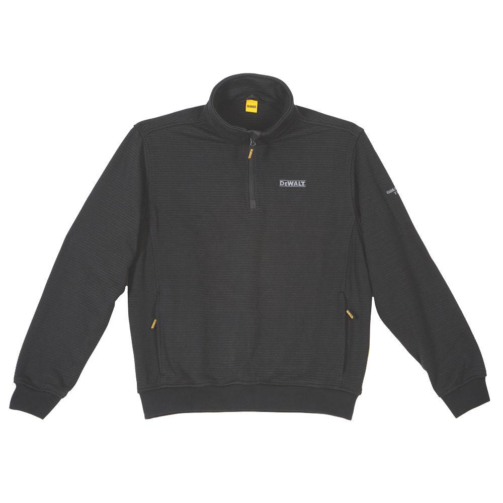 """DeWalt Laurel  ¼ Zip Sweater Black Medium 39-41"""" Chest"""