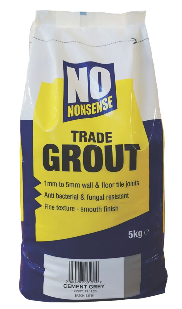 No Nonsense  No Mould Grout Cement Grey 5kg