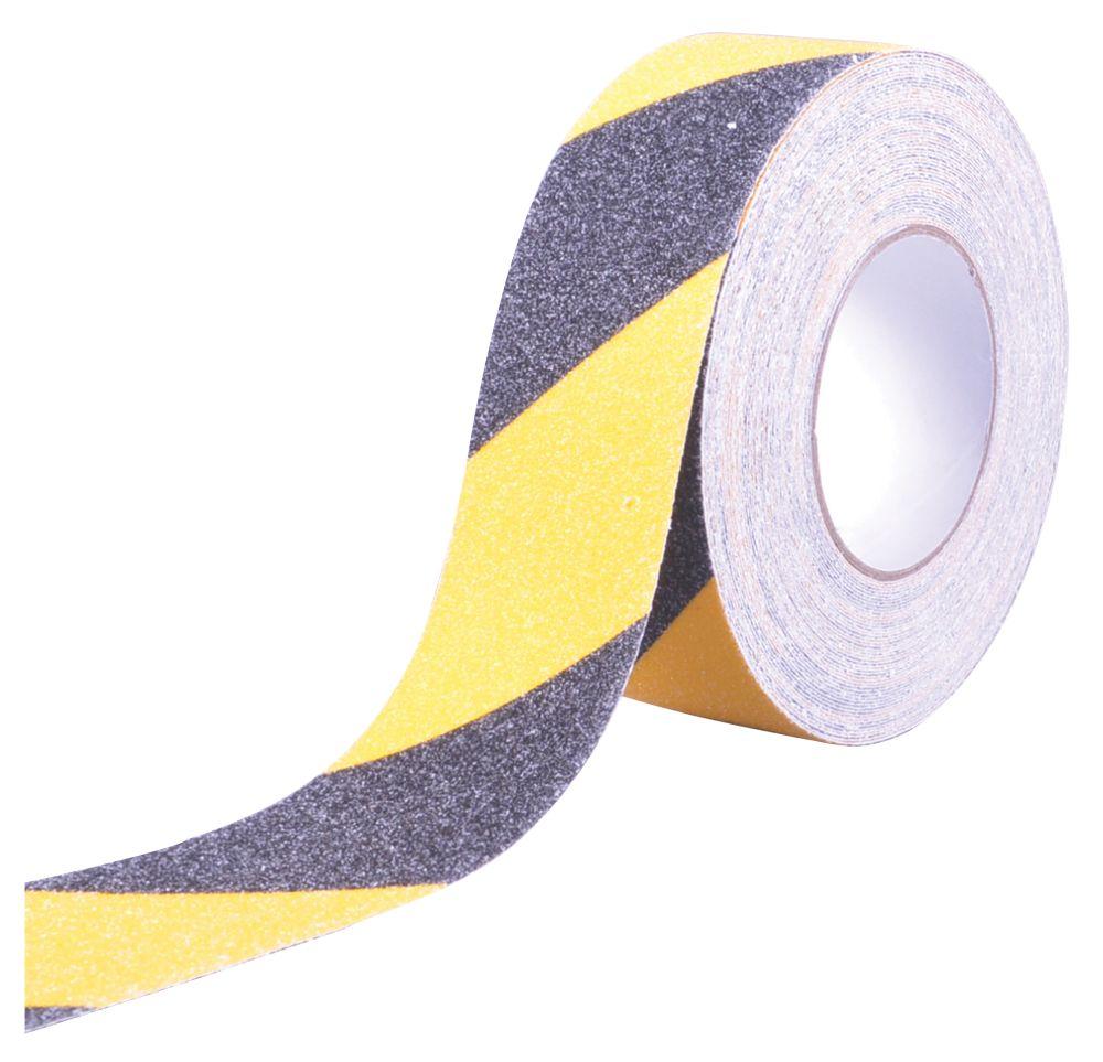 Anti-Slip Tape Black / Yellow 18m x 50mm